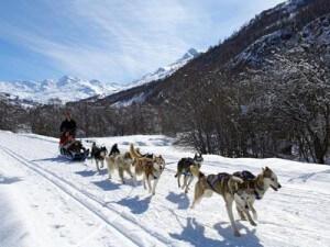 traineau vacances ski